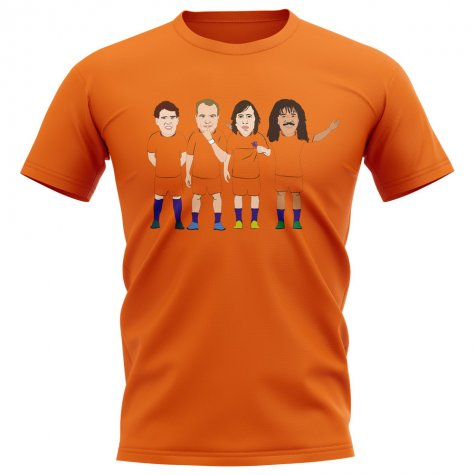 Holland Legend Players Illustration T-Shirt (Orange)