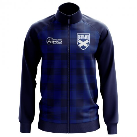 Scotland Tartan Concept Football Track Jacket (Navy)