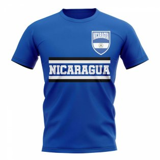 Nicaragua Core Football Country T-Shirt (Blue)