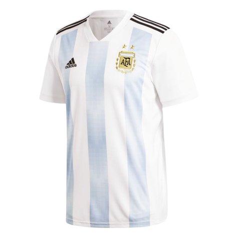 2018-19 Argentina Home Shirt (Kun Aguero 9) - Kids