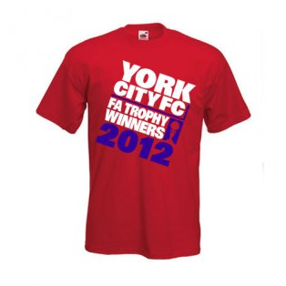 2012 York FA Trophy Champions T-Shirt (Red)