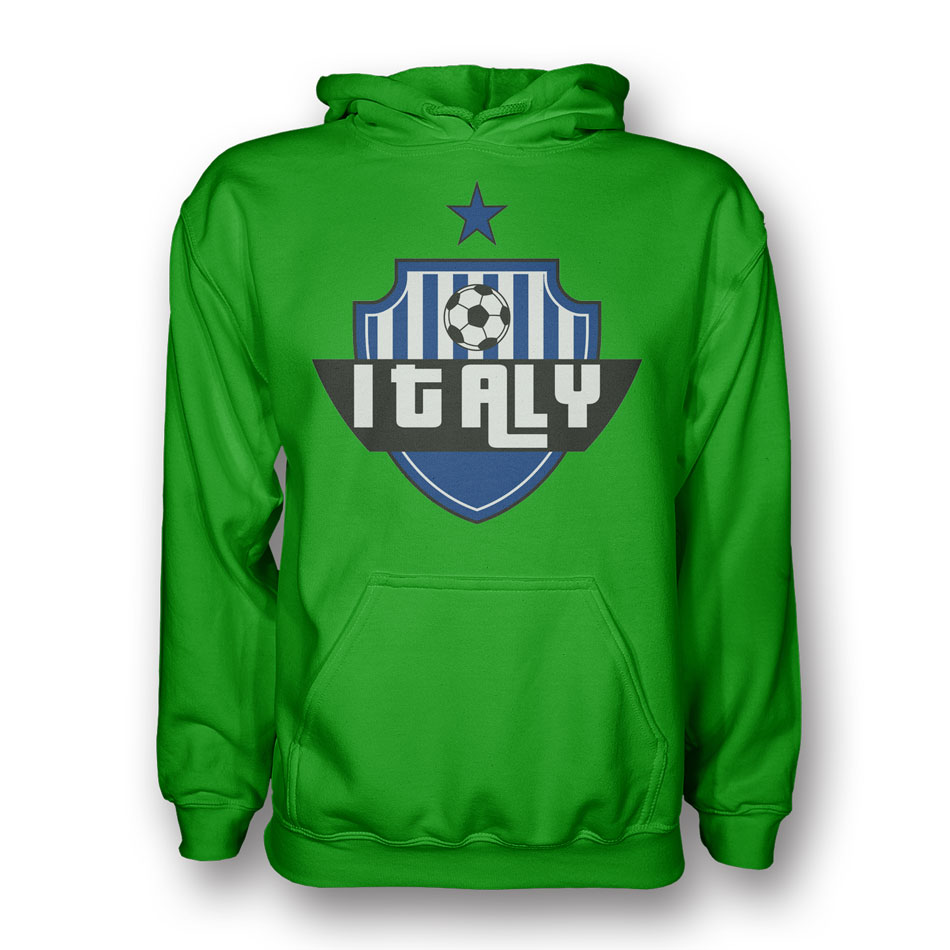 Italy country logo hoody green for Green italy