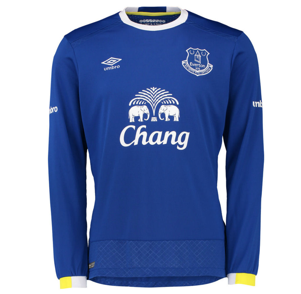 2016-2017 Everton Umbro Home Long Sleeve Shirt
