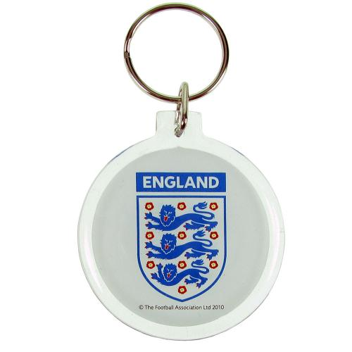 - acrylic key ring- double sided- approx 50mm x 50mm- on a header card- official licensed product Seller: UKSoccershop. com