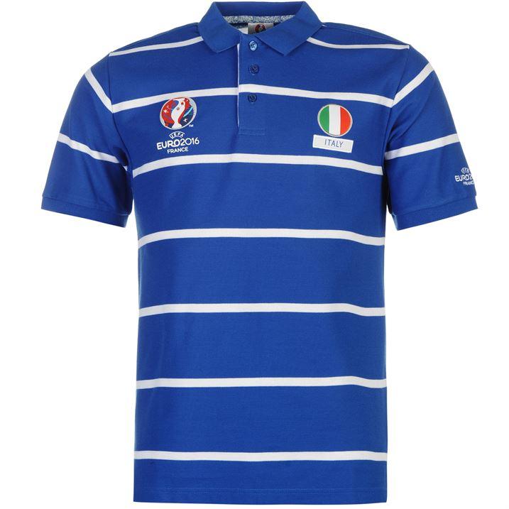 Spain uefa euro 2016 stripe polo shirt navy best uk prices for Spain polo shirt 2014