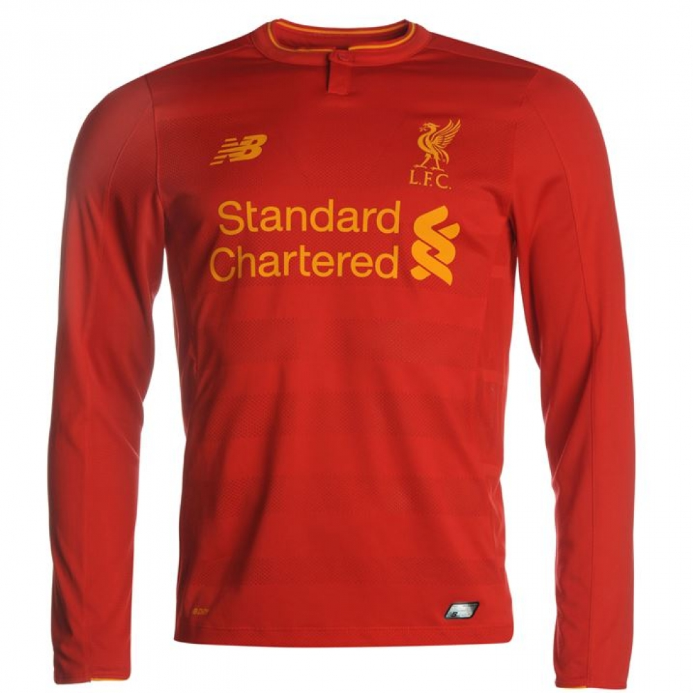 best service cf709 66550 2016-2017 Liverpool Home Long Sleeve Shirt (Kids)