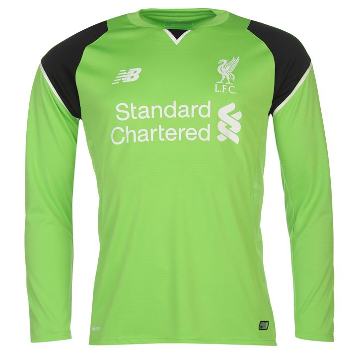 online store 12c99 ed463 New Balance Liverpool Kids LS Goalkeeper Home Shirt 2016/17