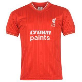 hot sale online e727b 9e5cc 1986 Liverpool Home Crown Paints Shirt