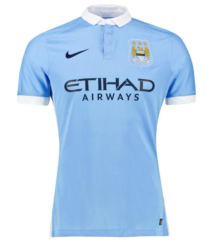 2e15bcc0 Nike Manchester City Mens SS Player Issue Home Shirt 2015/16 | FOOTY.COM
