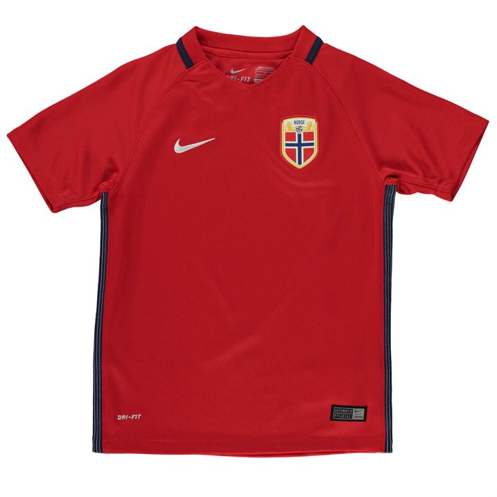 new arrival dab95 ec205 2016-2017 Norway Home Nike Football Shirt (Kids)