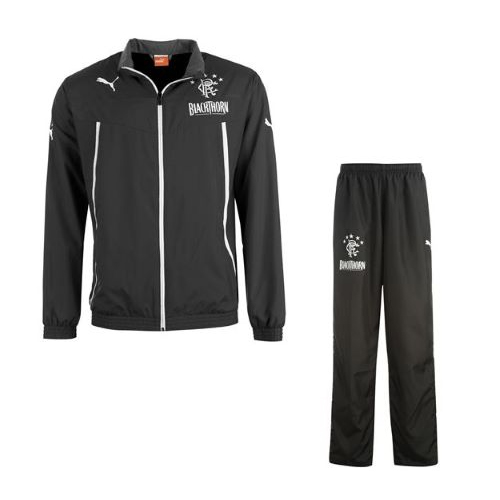 2013-14 Rangers Puma Woven Tracksuit (Black)