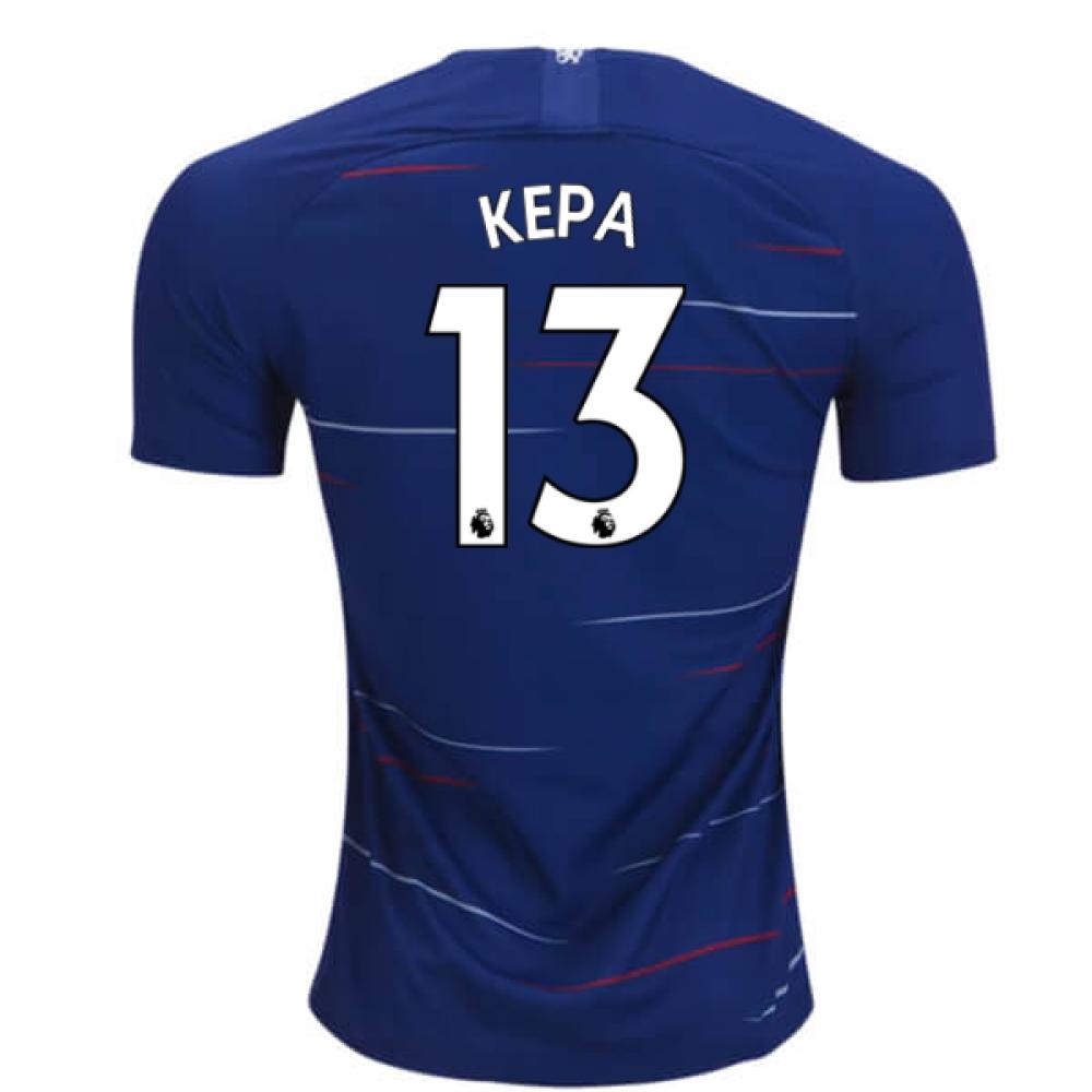 2018-2019 Chelsea Nike Vapor Home Match Shirt (Kepa 13)