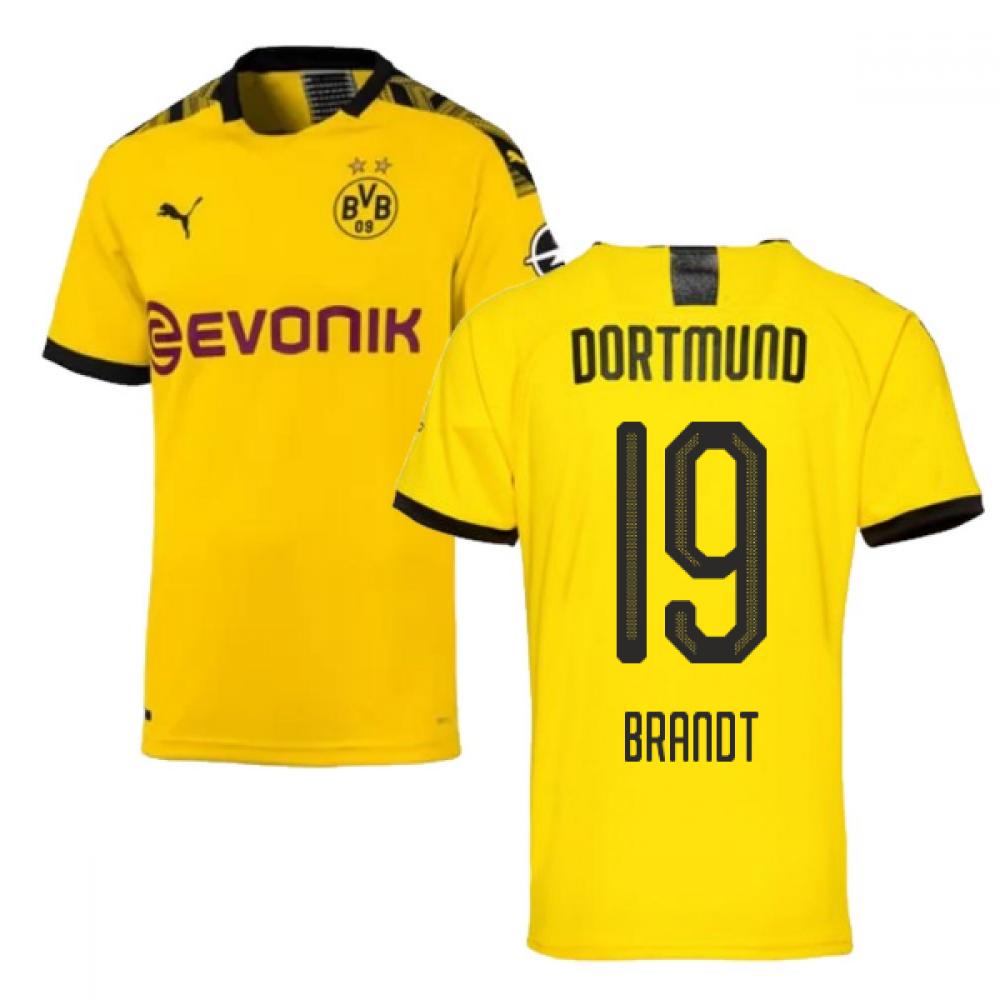 2019-2020 Borussia Dortmund Puma Authentic Home Football Shirt (Brandt 19)