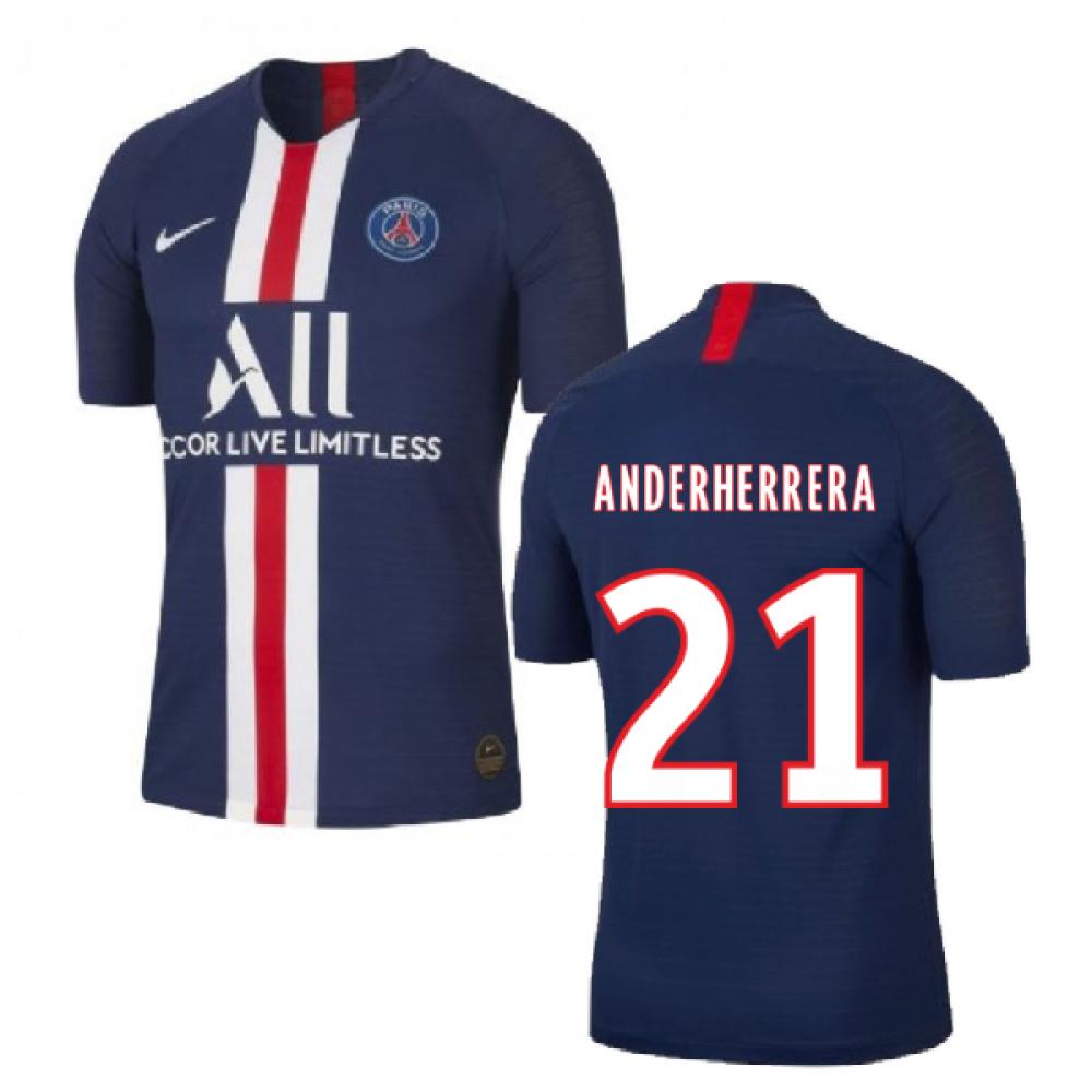 2019-2020 PSG Authentic Vapor Match Home Nike Shirt (Ander Herrera 21)