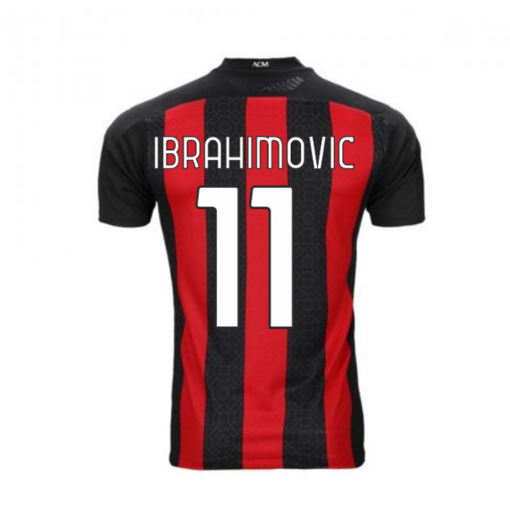 2020-2021 AC Milan Puma Authentic Home Football Shirt (IBRAHIMOVIC 11)