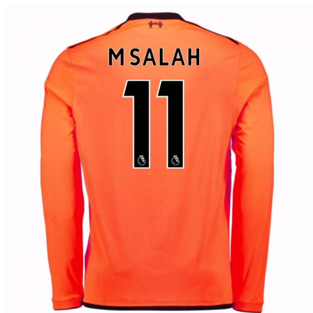 uk availability ac92a 4b923 2017-18 Liverpool Long Sleeve Third Shirt (M Salah 11) - Kids