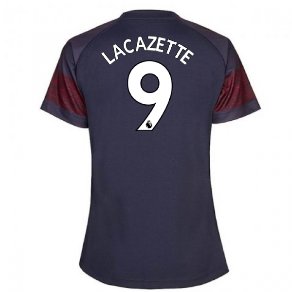 2018-2019 arsenal puma away ladies shirt (lacazette 9)