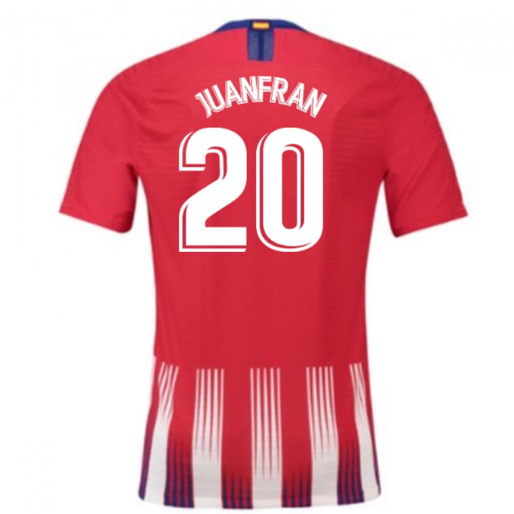 33bead1856e 2018-2019 Atletico Madrid Authentic Vapor Match Home Nike Shirt (Juanfran  20)