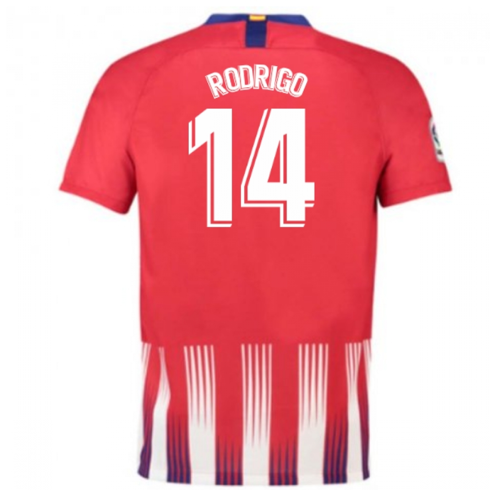 2018-2019 Atletico Madrid Home Nike Football Shirt (Rodrigo 14)