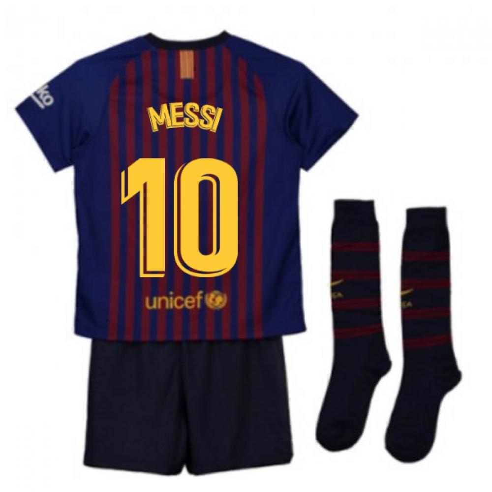 online store ca145 e02c6 2018-2019 Barcelona Home Nike Little Boys Mini Kit (Messi 10)