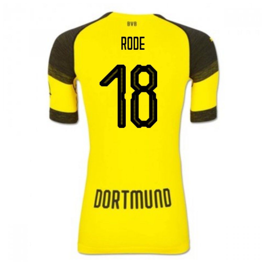 2018-2019 Borussia Dortmund Puma Authentic EvoKNIT Home Football Shirt (Rode 18)