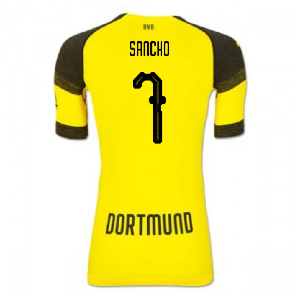 2018-2019 Borussia Dortmund Puma Authentic EvoKNIT Home Football Shirt (Sancho 7)