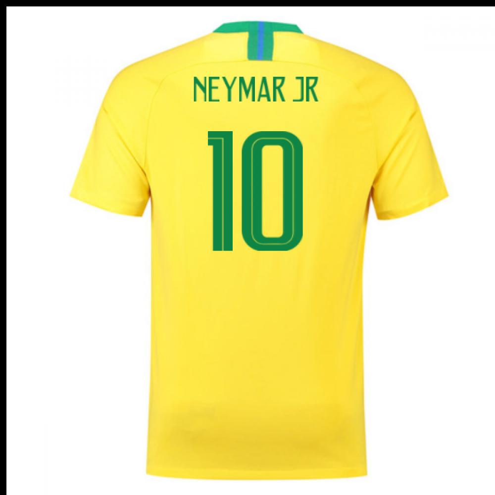 2018-2019 Brazil Home Nike Football Shirt (Neymar Jr 10) - Kids
