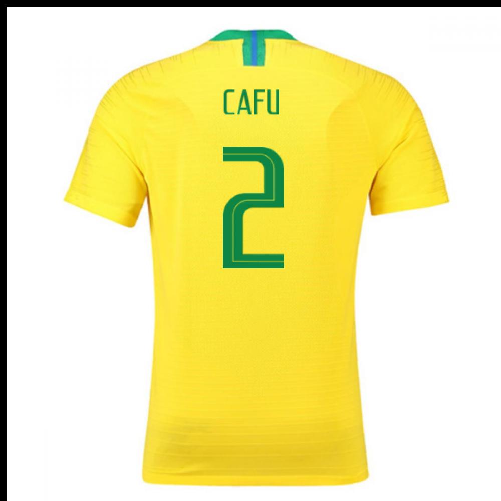 2018-2019 Brazil Home Nike Vapor Match Shirt (Cafu 2)