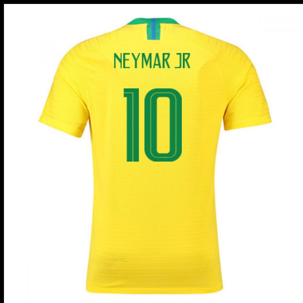 2018-2019 Brazil Home Nike Vapor Match Shirt (Neymar Jr 10)