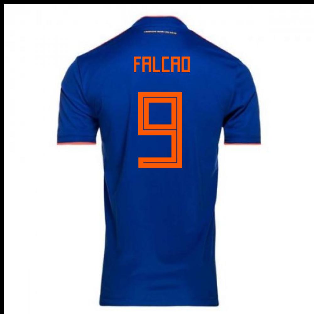 2018-2019 Colombia Away Adidas Football Shirt (Falcao 9)