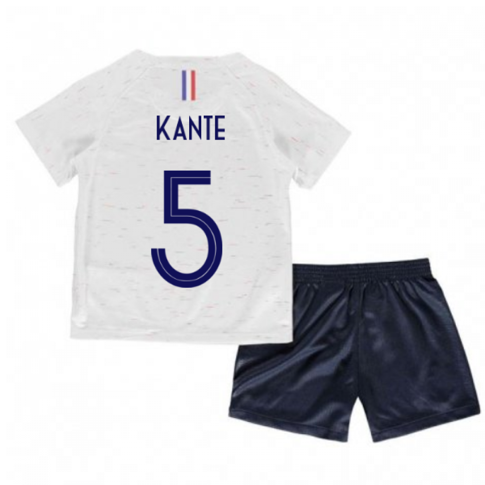 outlet store 4d837 8ff11 2018-2019 France Away Nike Baby Kit (Kante 5)