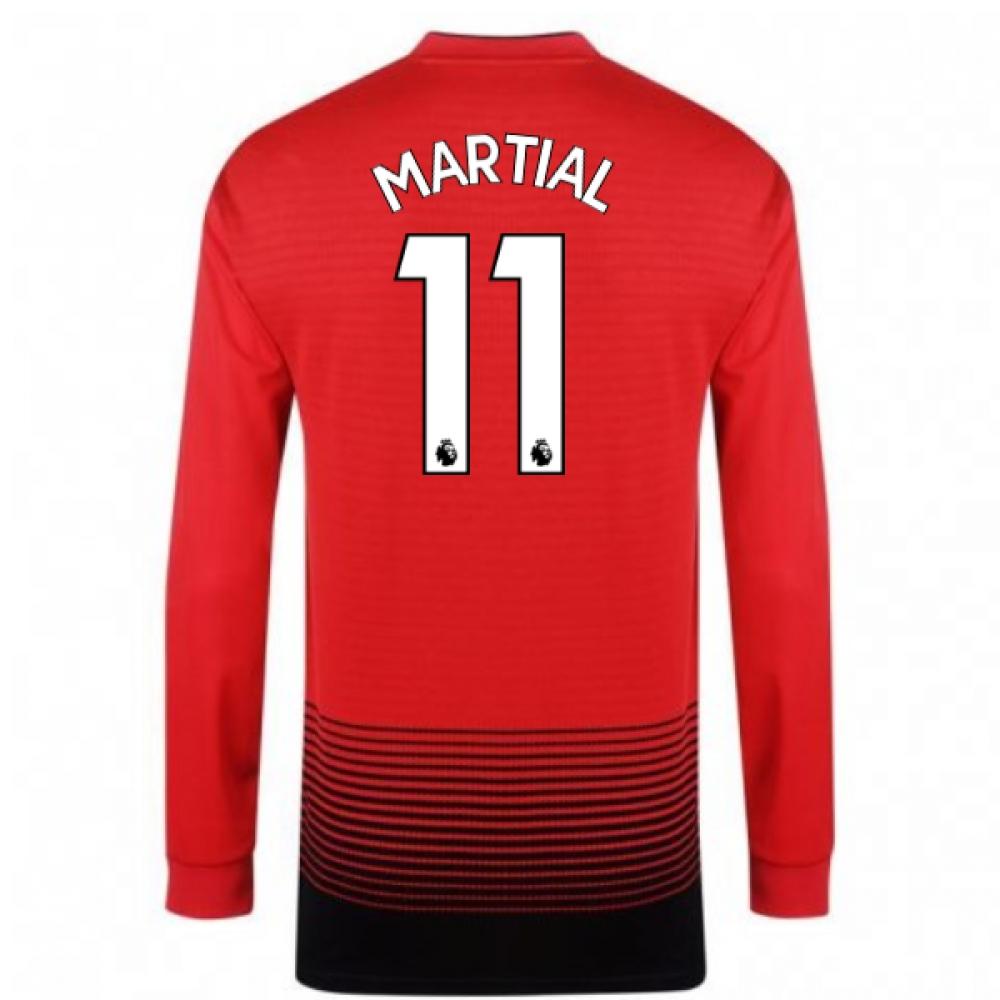 2018-2019 Man Utd Adidas Home Long Sleeve Shirt (Martial 11)