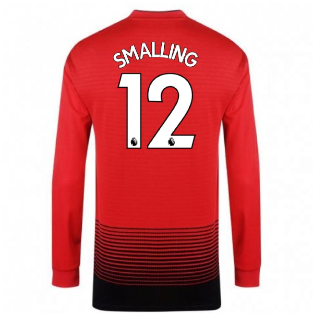 2018-2019 Man Utd Adidas Home Long Sleeve Shirt (Smalling 12)
