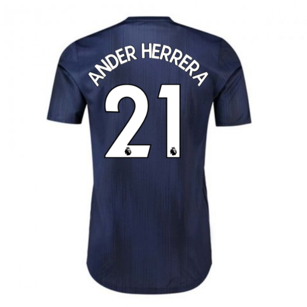 2018-2019 Man Utd Adidas Third Adi Zero Football Shirt (Ander Herrera 21)