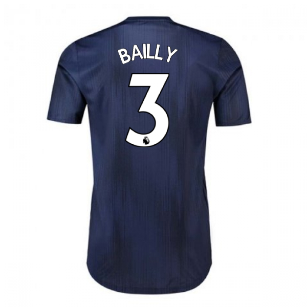 2018-2019 Man Utd Adidas Third Adi Zero Football Shirt (Bailly 3)