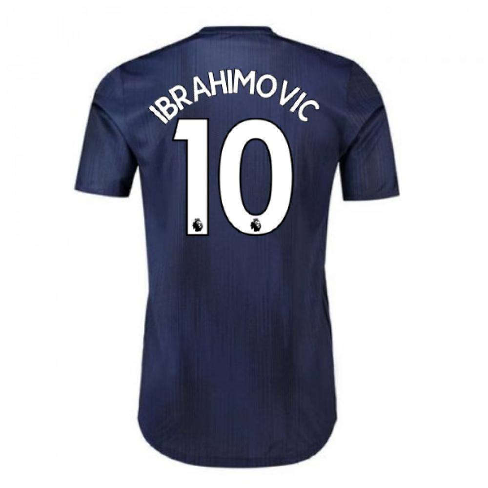 2018-2019 Man Utd Adidas Third Adi Zero Football Shirt (Ibrahimovic 10)