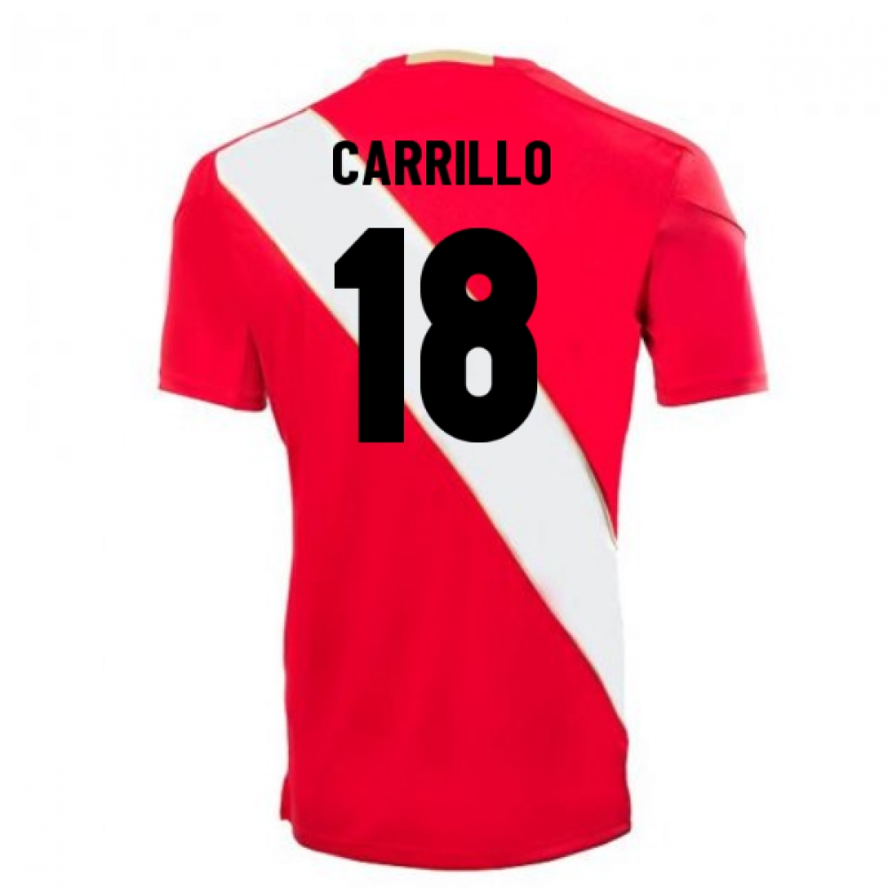 2018-2019 Peru Away Umbro Football Shirt (Carrillo 18)