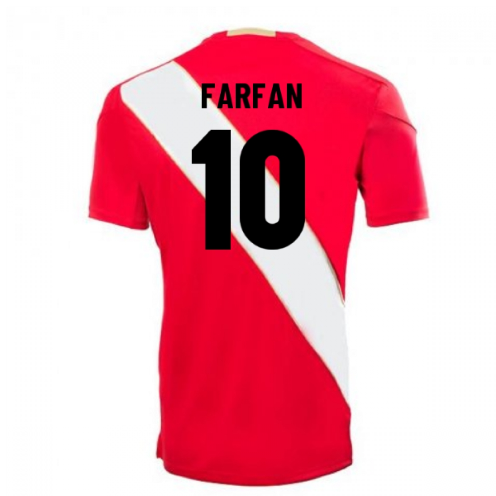 2018-2019 Peru Away Umbro Football Shirt (Farfan 10)
