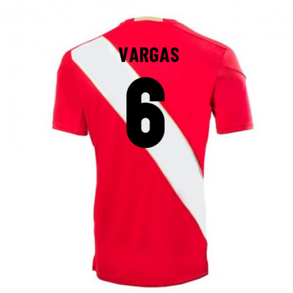 2018-2019 Peru Away Umbro Football Shirt (Vargas 6)