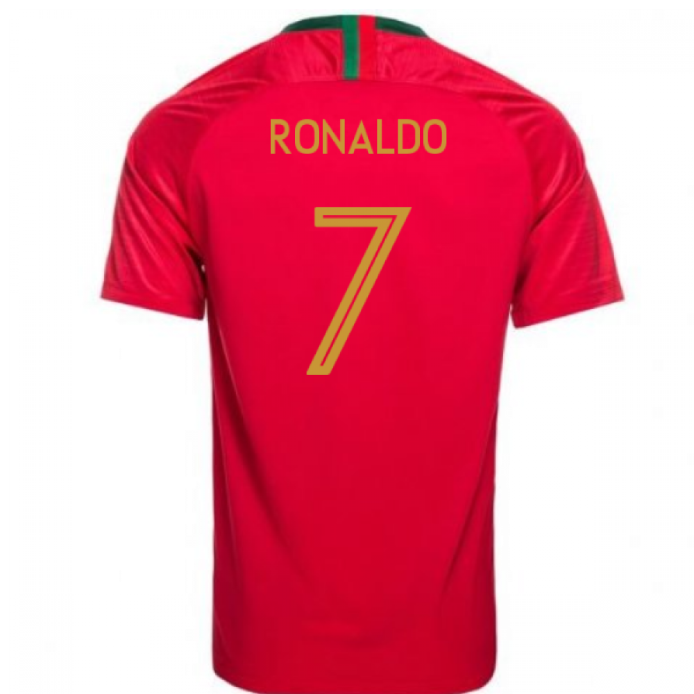 first rate 446b9 3ca39 2018-2019 Portugal Home Nike Womens Shirt (Ronaldo 7)