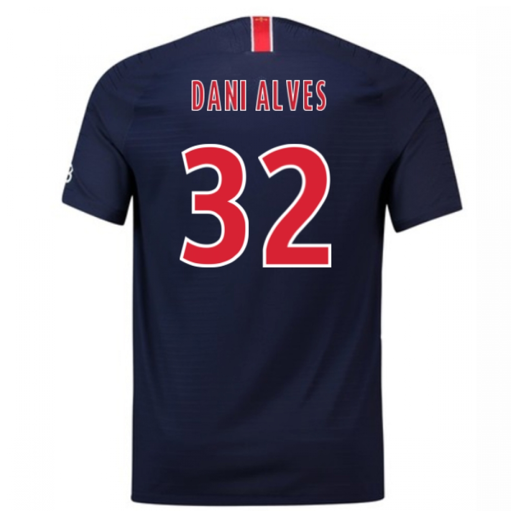 2018-2019 PSG Authentic Vapor Match Home Nike Shirt (Dani Alves 32)
