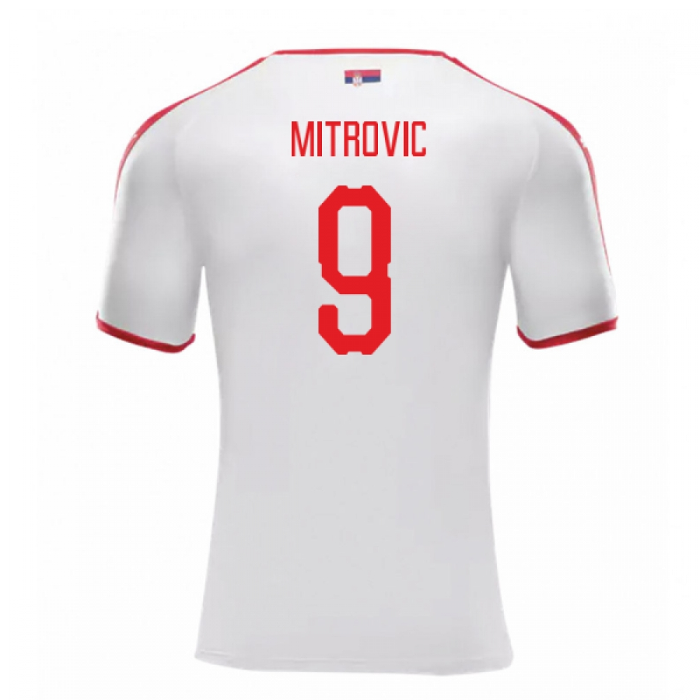 2018-2019 Serbia Away Puma Football Shirt (Mitrovic 9)