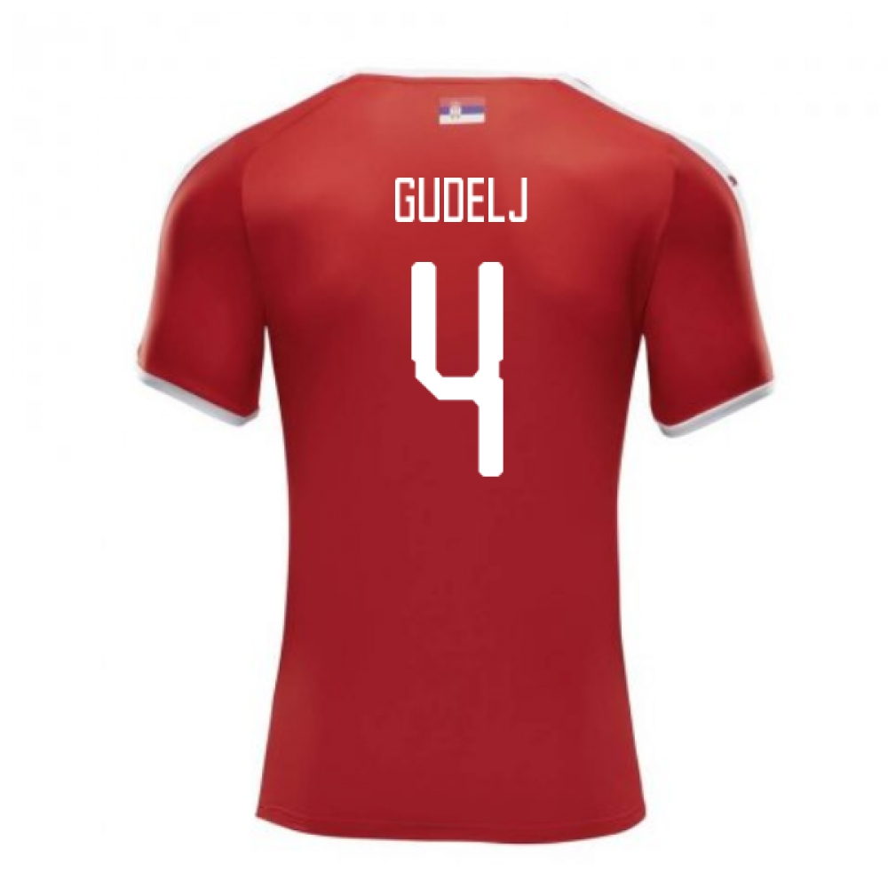 2018-2019 Serbia Home Puma Football Shirt (Gudelj 4)