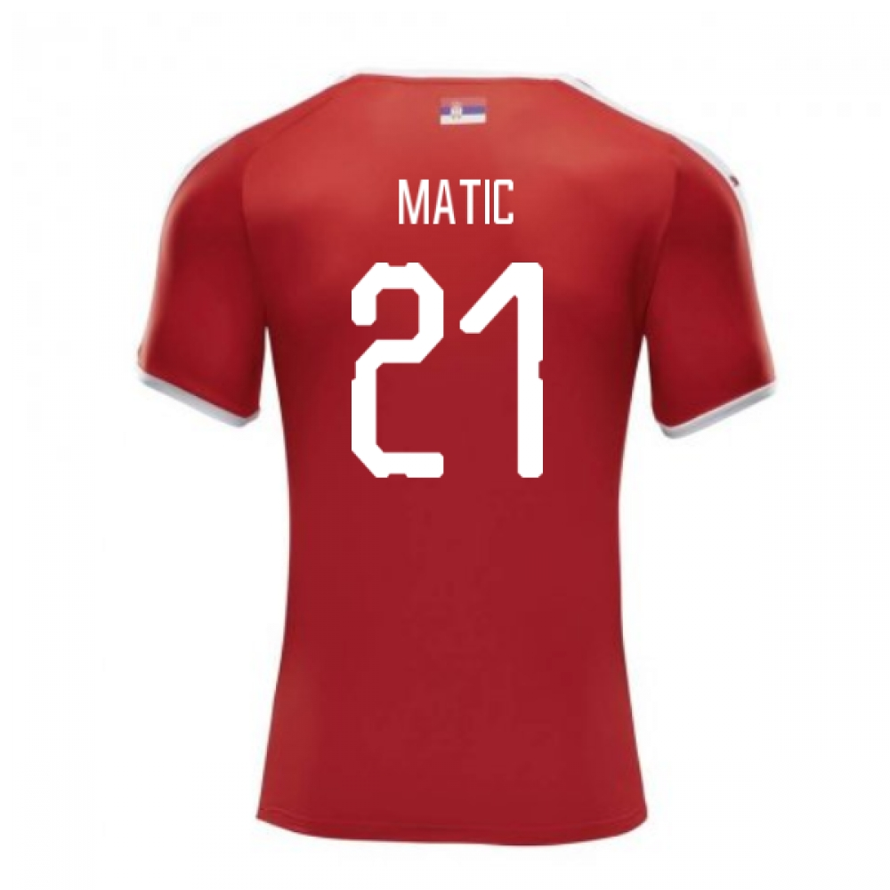 2018-2019 Serbia Home Puma Football Shirt (Matic 21)