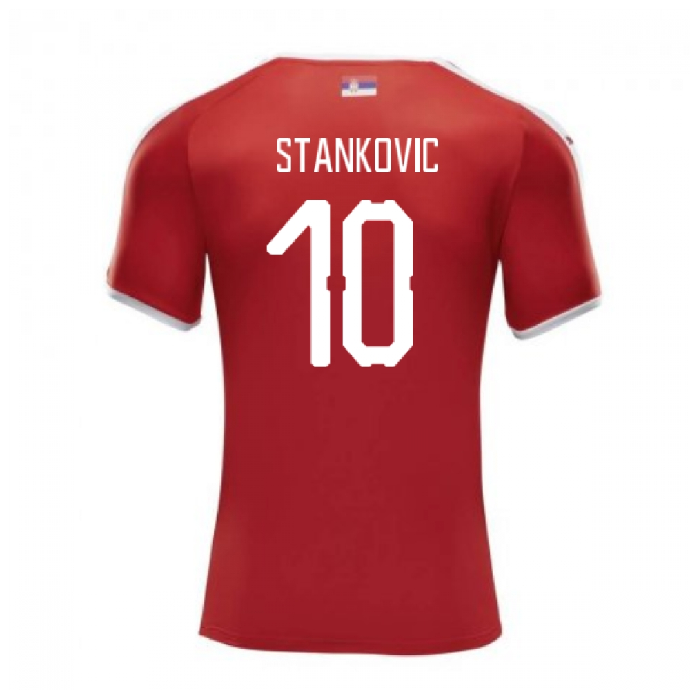 2018-2019 Serbia Home Puma Football Shirt (Stankovic 10)