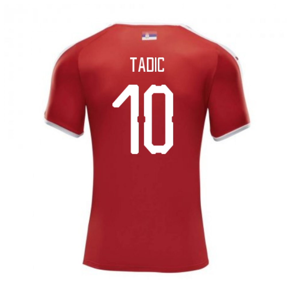 2018-2019 Serbia Home Puma Football Shirt (Tadic 10)