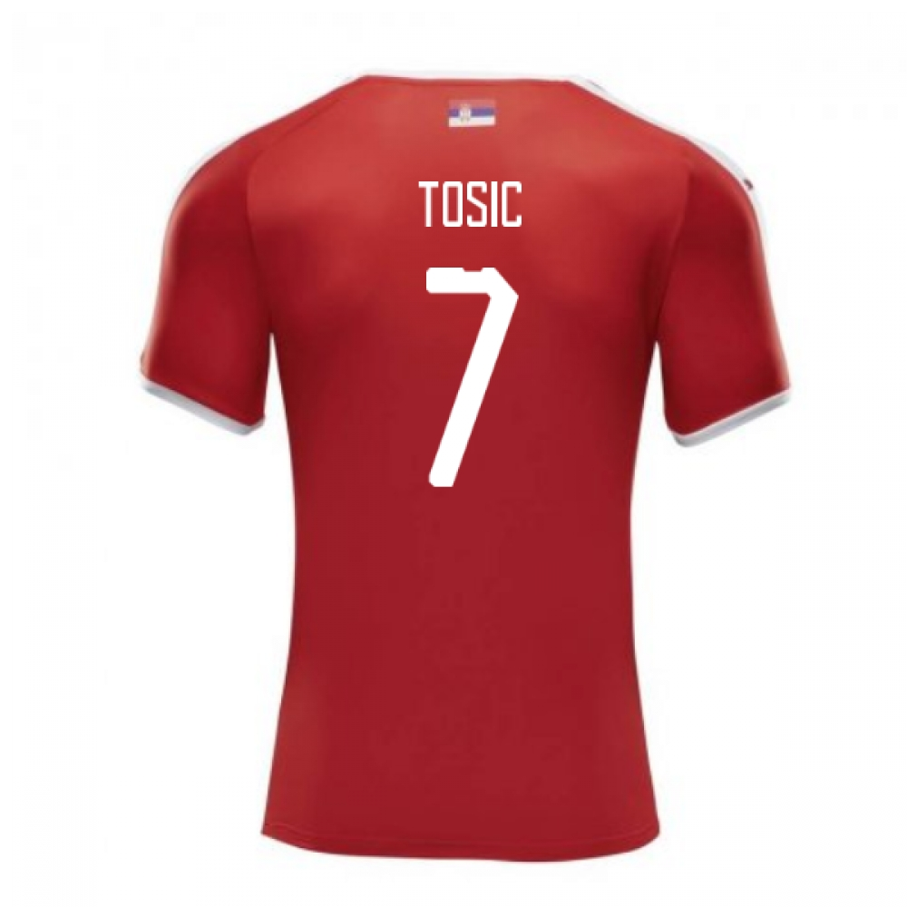 2018-2019 Serbia Home Puma Football Shirt (Tosic 7)