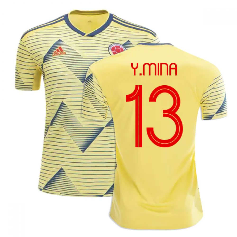 2019-20 Colombia Home Shirt (Y.Mina 13)