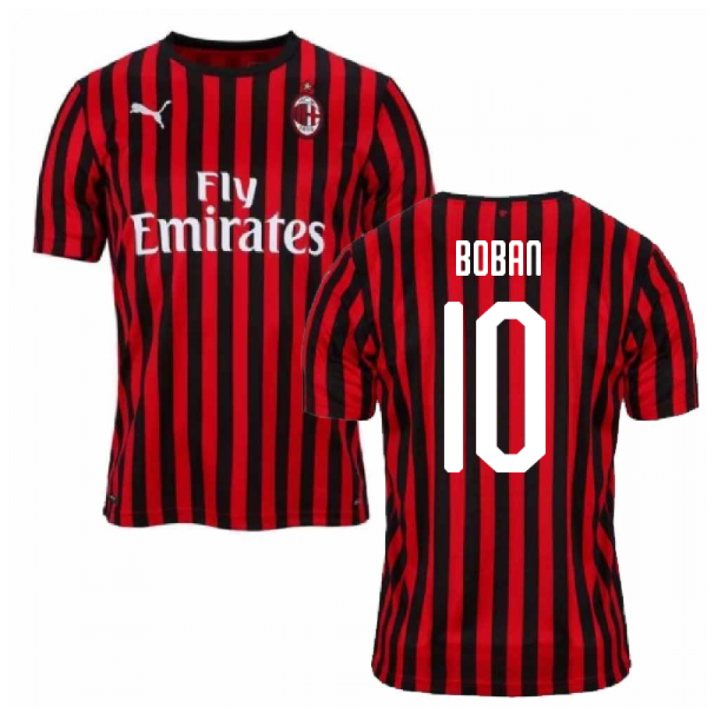 2019-2020 AC Milan Puma Authentic Home Football Shirt (BOBAN 10)