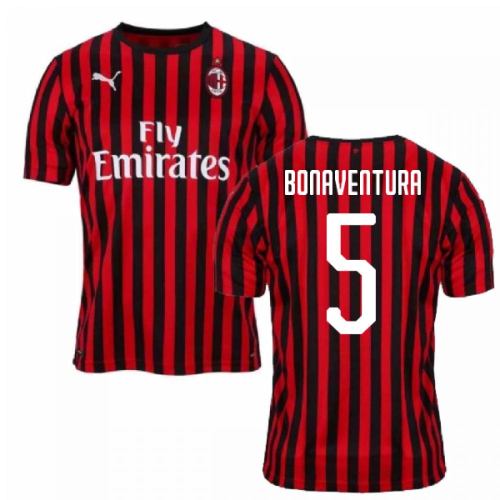 2019-2020 AC Milan Puma Authentic Home Football Shirt (BONAVENTURA 5)